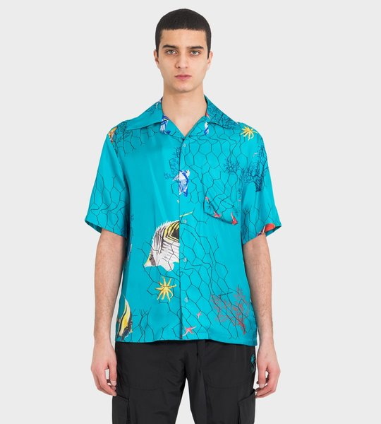 Off-White Fish Print Holiday Shirt