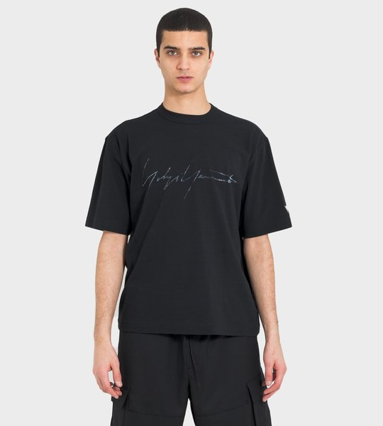 Distressed Signature SS T-shirt Black