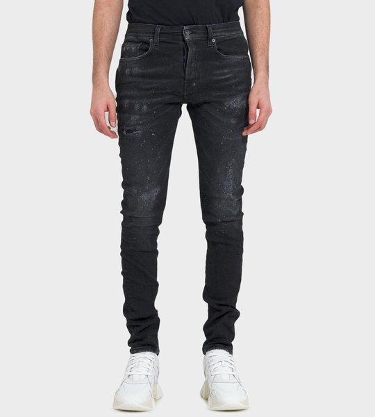 Windsor Long Ted Scratched Wash Jeans Black