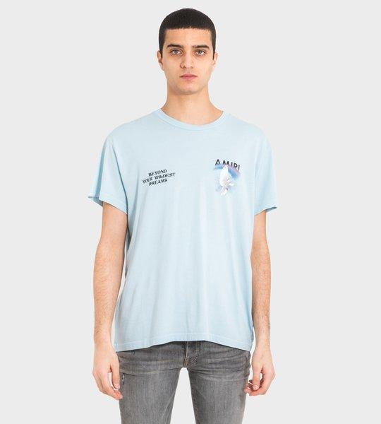 Rainbow Dove T-shirt Blue