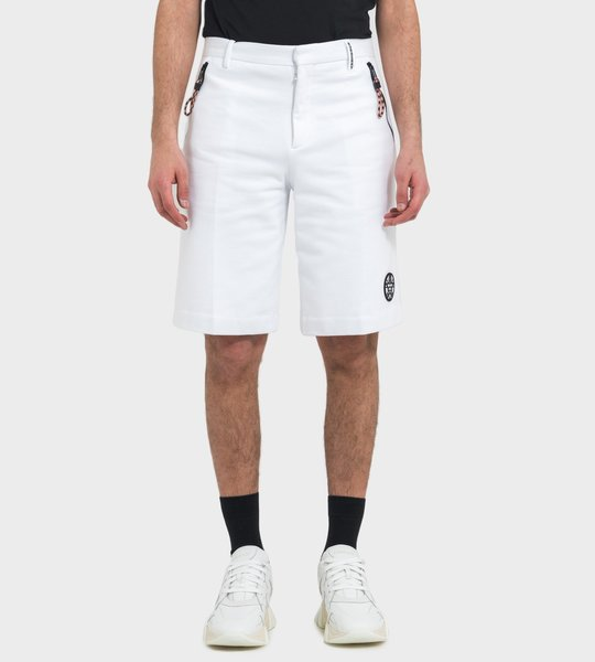 Shorts White Zippers