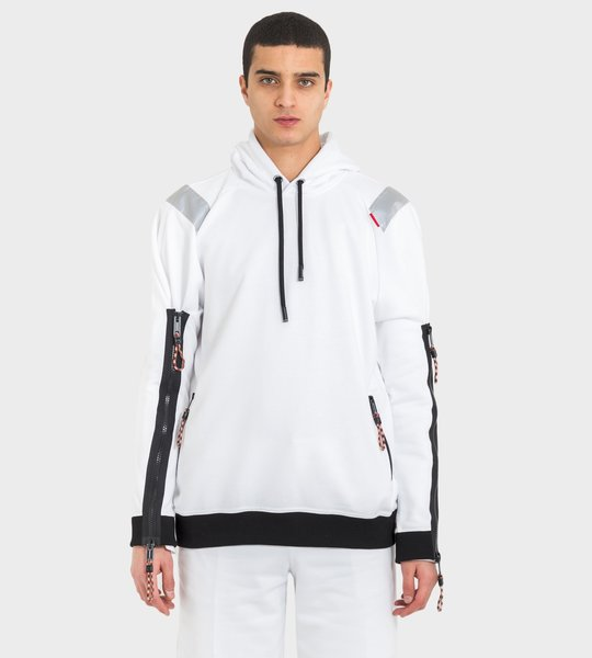 Hoodie White Zippers