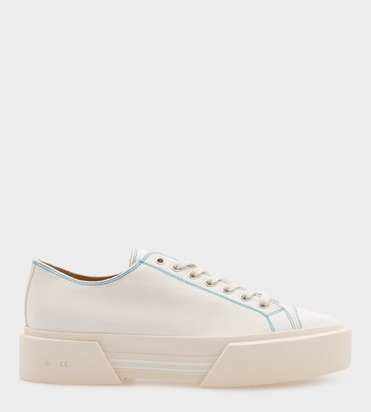 Sneakers White Blue Line