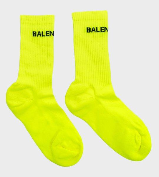 Logo Print Socks Yellow