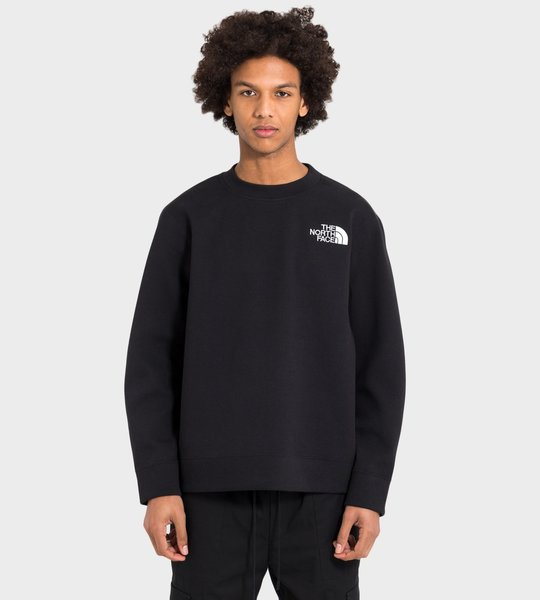 Black Series Spacer Knit Crewneck Sweatshirt Black
