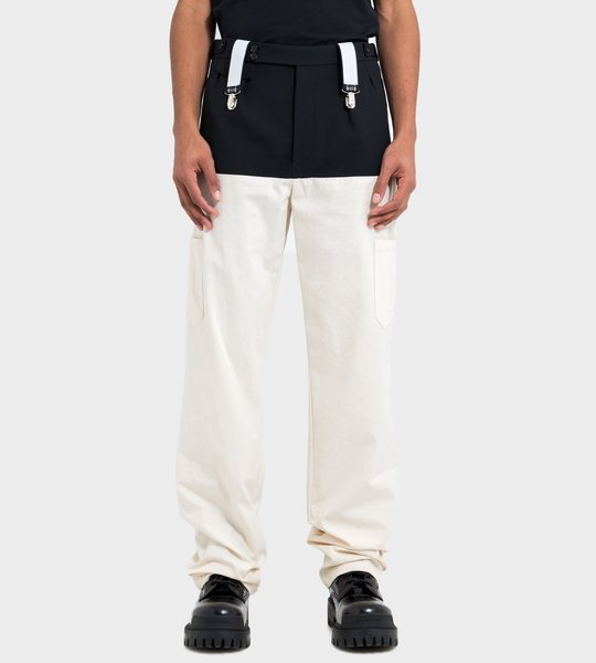 Two Tone Suspender Trousers