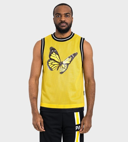 Butterfly Tank Top Yellow