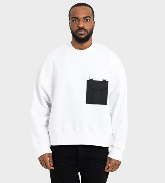 Pocket Crewneck Off White