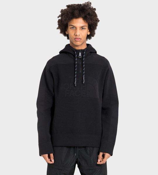 Engineered-Knit Hooded Sweatshirt Black