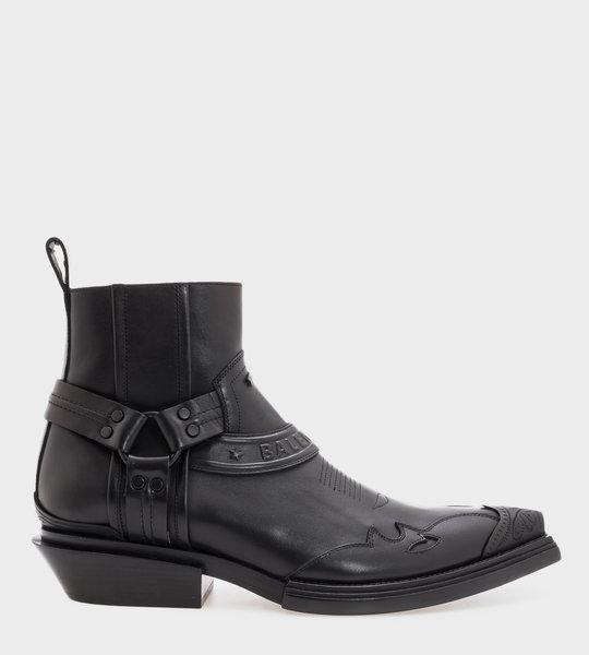 Harness Santiag Boots Black