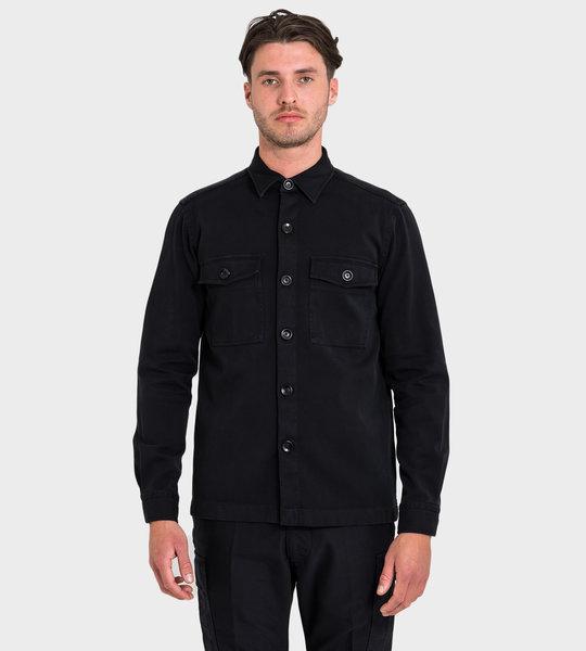 Chest Pockets Shirt Black