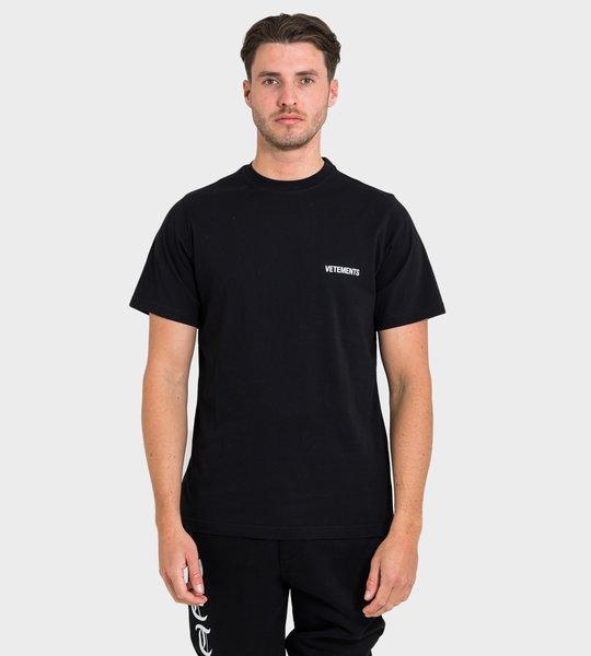 Logo Print T-shirt Black