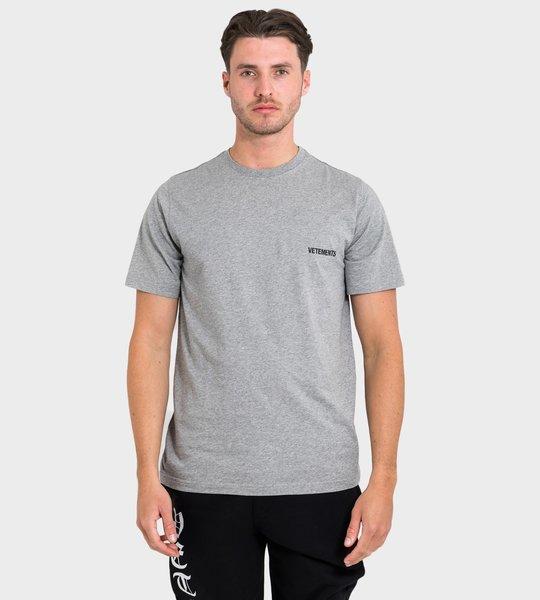 Logo Print T-shirt Grey
