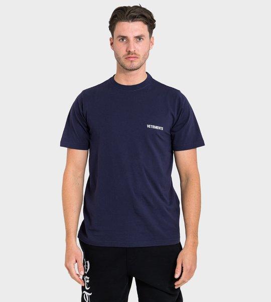 Logo Print T-shirt Navy