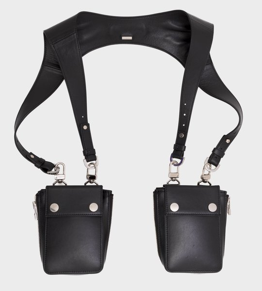 Leather Harness Bag Black