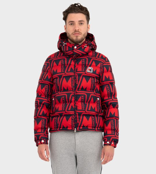 Frioland Giubbotto Repeat Print Jacket Red