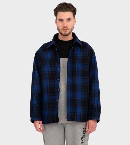 Padded Check Shirt Blue
