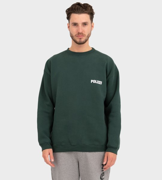 Polizei Cotton Blend Crewneck Green