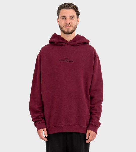 Embroidered Upside Down Logo Hoodie