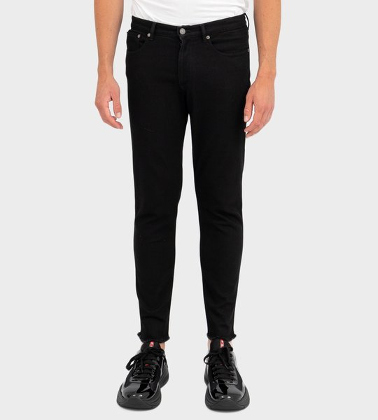 Short Skinny Jeans With Shred Edges
