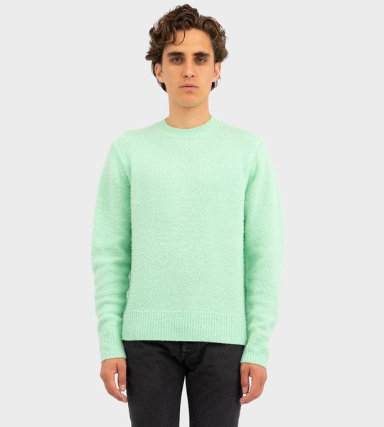 Pilled Wool Blend Sweater Lime