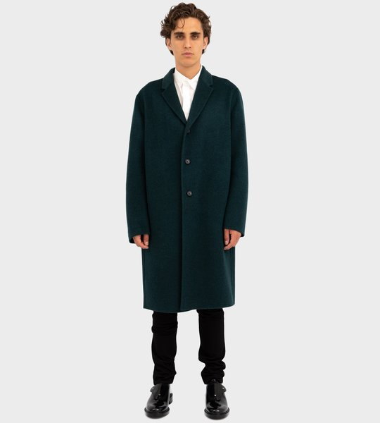 Double-Faced Wool Coat Forest Green