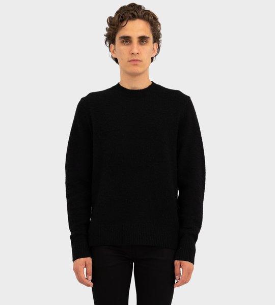 Pilled Wool Blend Sweater Black