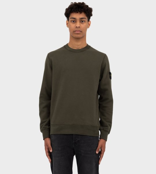 Brushed Cotton Fleece Sweater Musk