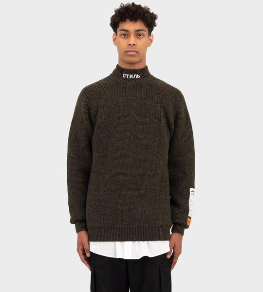 СТИЛЬ Turtleneck Sweater Olive