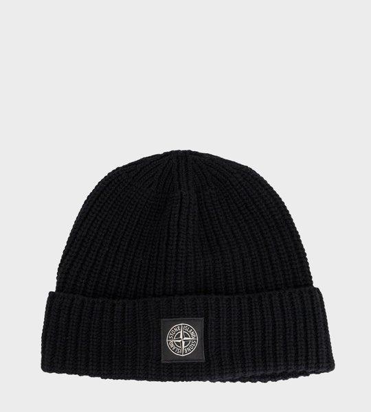 Rib Knit Beanie Black