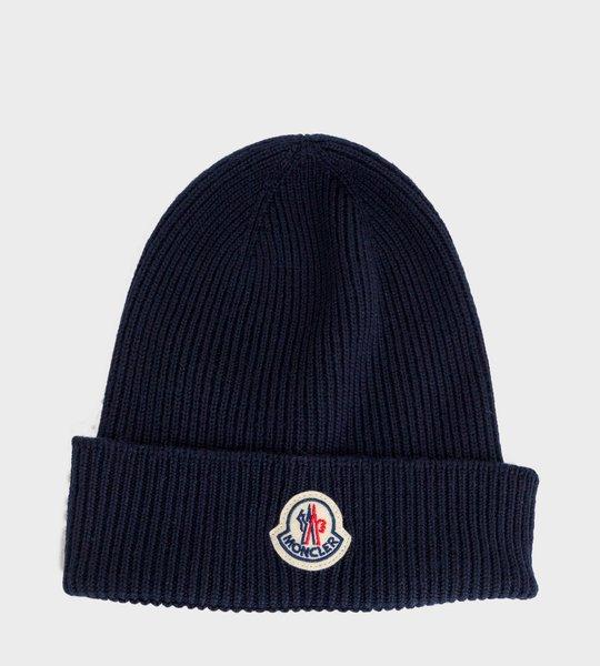 Rib-Knit Beanie Navy