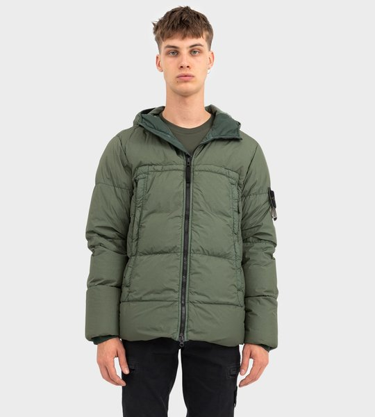 Garment Dyed Crinkle Reps NY Down Jacket Green