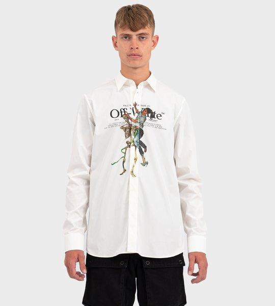 Pascal Skeleton Shirt In White