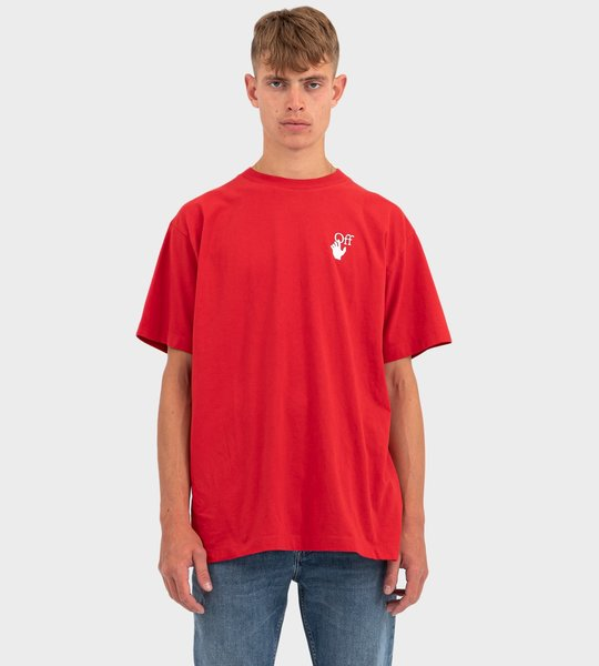Cut Here Print T-shirt In Red