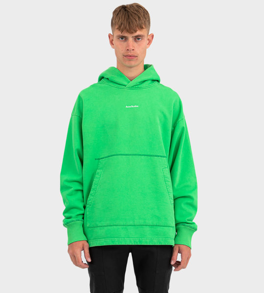 Logo Print Hooded Sweatshirt Bright Green