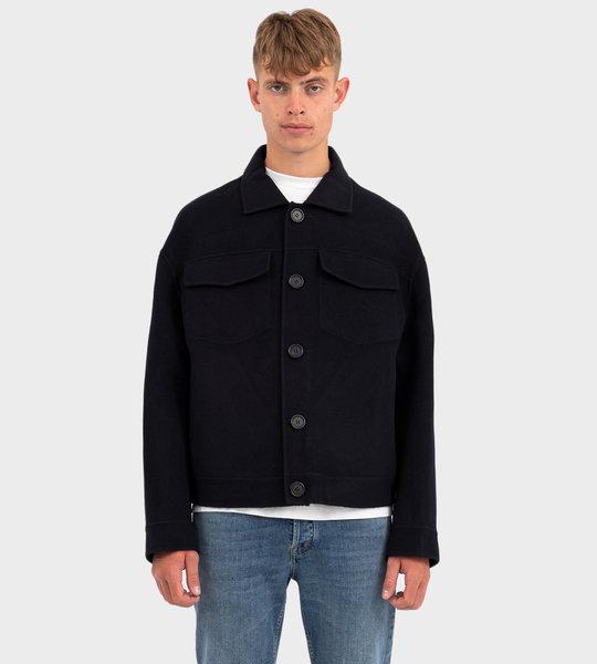 Wool Twill Jacket navy