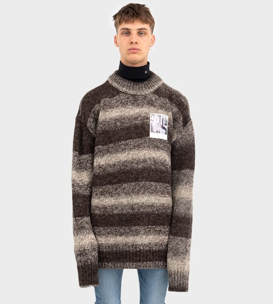Marl Patch Sweater Brown