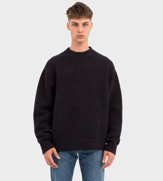 Melange Sweater Navy/Brown