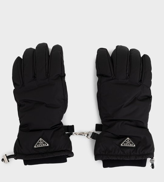 Nylon Gloves With Nappa Leather Inserts