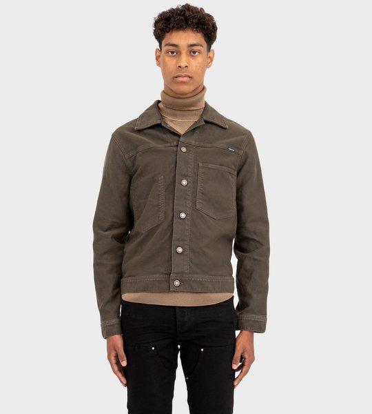 Brushed Cotton workwear Jacket Green