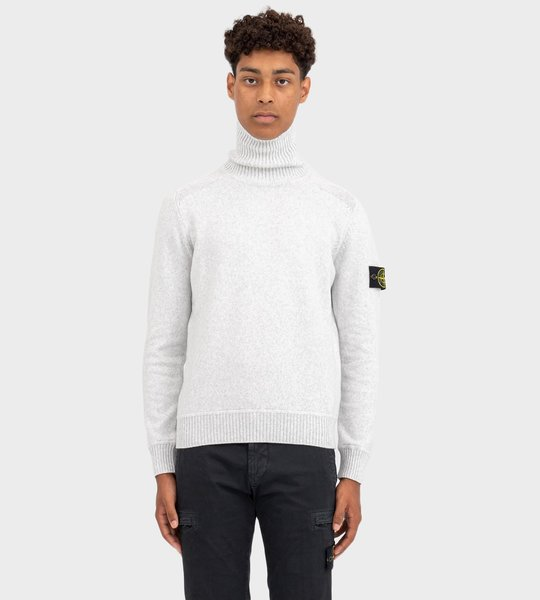 542A2 Turtleneck Sweater In Pearl Grey
