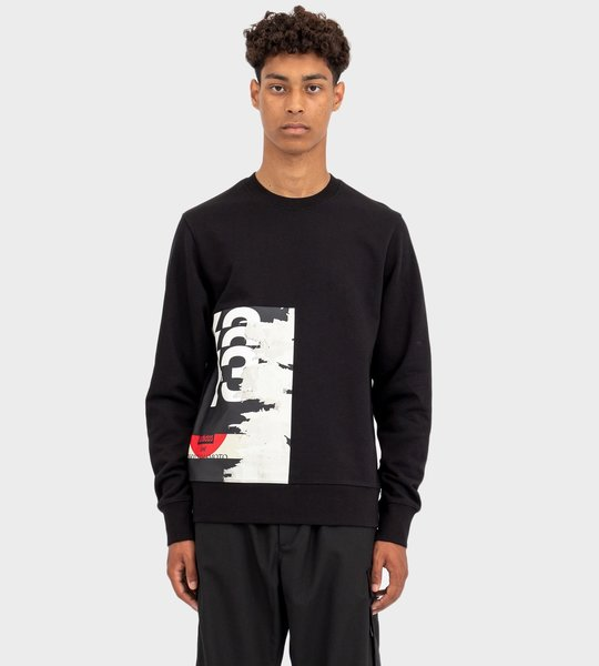 CH1 Graphic Crew Sweatshirt Black