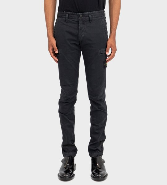 Slim Fit Five-Pocket Trousers Blue