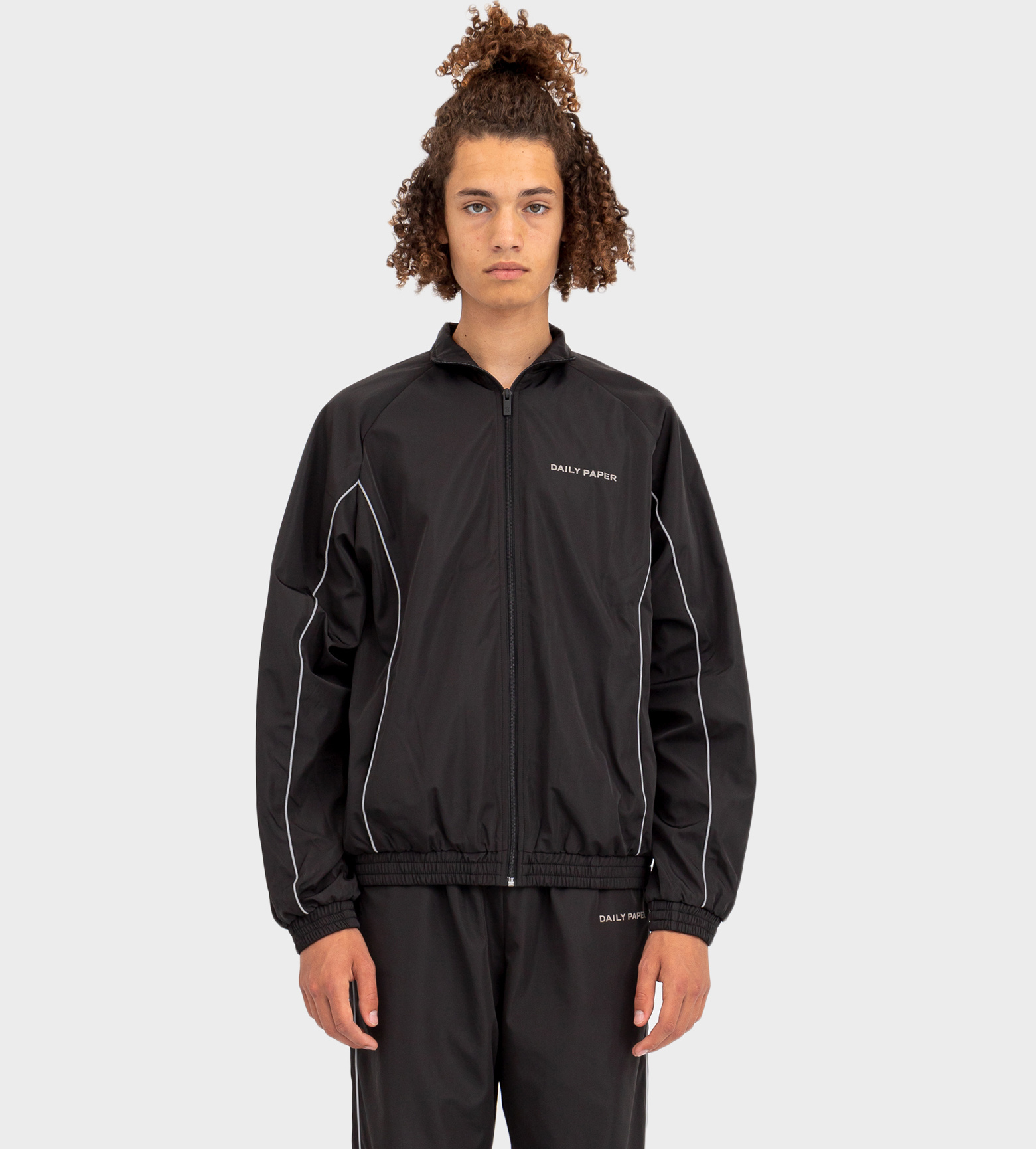 DAILY PAPER Etrack Top Jacket  Black