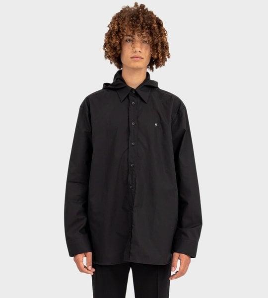 Straight Fit Hooded R-Shirt Black