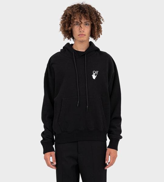 Pascal Arrows Slim-Fit Hoodie Black
