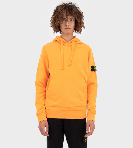 64120 Plain Logo Patch Hoodie Orange