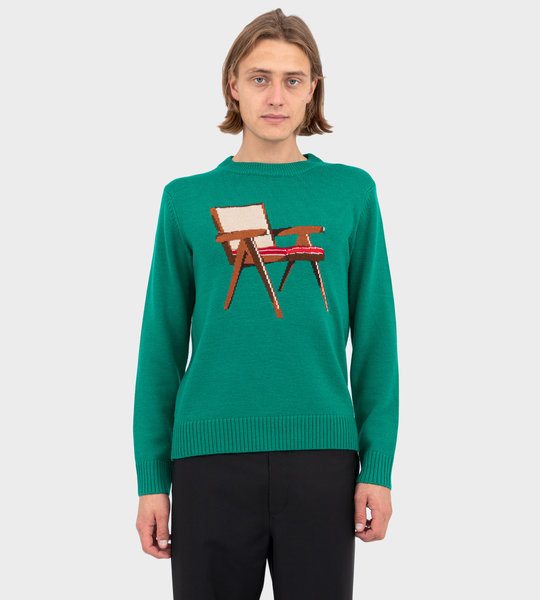 Art Of Sitting Crew Knit Green