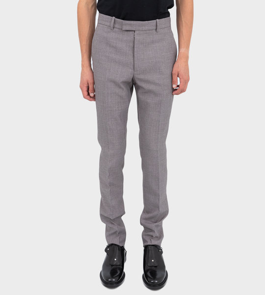 Slim Fit Tailored Trousers Grey