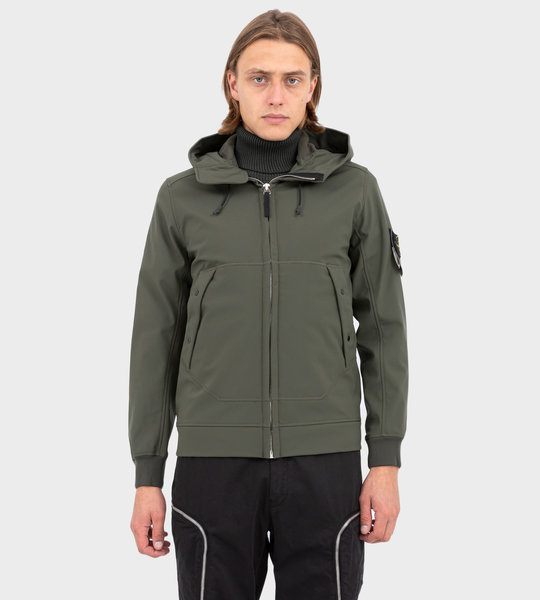 Q0122 Soft Shell-R Lightweight Jacket Musk Green